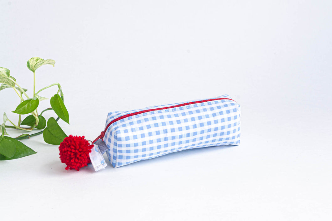 Pencil Case - Blue plaid