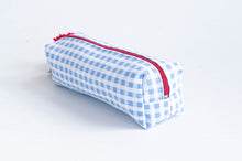 Load image into Gallery viewer, Pencil Case - Blue plaid