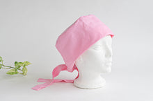 Charger l'image dans la galerie, Cotton Cloth Scrub Hat, Pink Stripes & Dots pattern