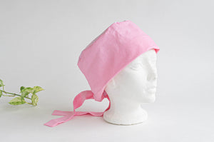 Cotton Cloth Scrub Hat, Pink Stripes & Dots pattern