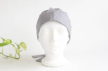 Load image into Gallery viewer, Women Scrub hat , Grey Ground with White Polka Dots pattern