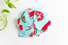 Load image into Gallery viewer, Set of 10 cloth makeup remover with watermelon pattern