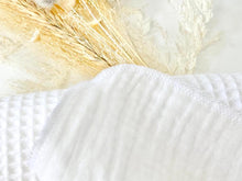Load image into Gallery viewer, Closeup of the edge of a white cotton handkerchief