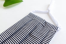 Load image into Gallery viewer, Close up of Cotton cloth face mask, Black and White Stripes pattern
