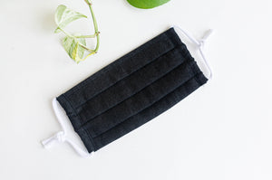 Cotton cloth face mask, Black Denim