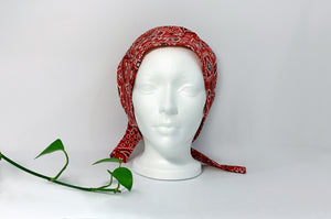 Front View of Western Paisley Scrub Cap