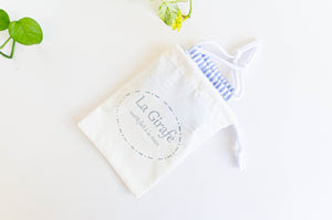 Ivory cotton cloth pouch for face mask