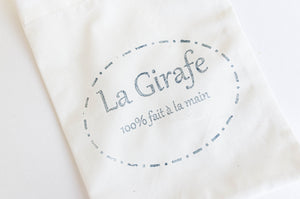 Closeup of La Girafe logo