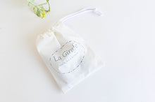 Load image into Gallery viewer, Ivory cotton cloth pouch for face mask