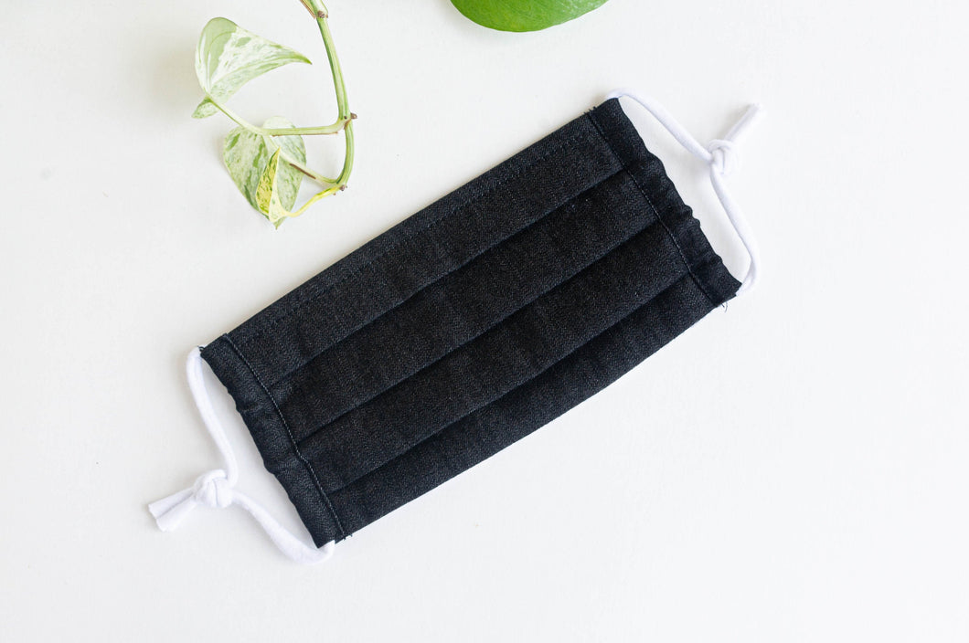 Face mask Black Denim