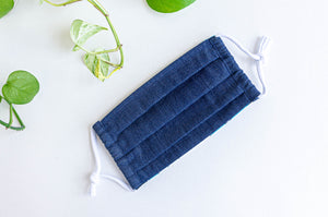 Face mask Blue Denim fabric