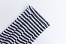 Load image into Gallery viewer, Closeup of Face mask Black and White Stripes