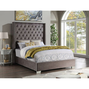 Grey Diamond Bed - Unique Furniture