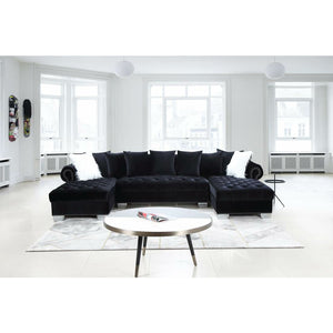 Kim Black Sectional - Unique Furniture