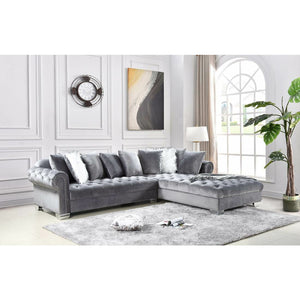 Crown Grey Oversized Sectional - Unique Furniture