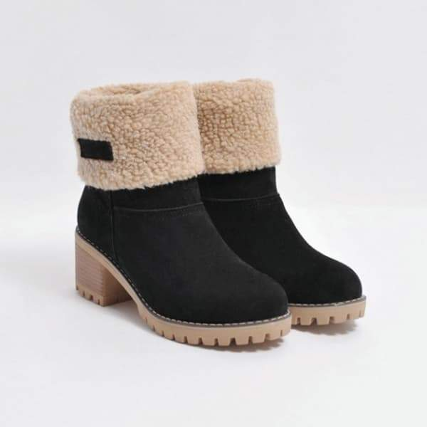 Vidiashoes  Winter Shoes Fur Warm Snow Boot