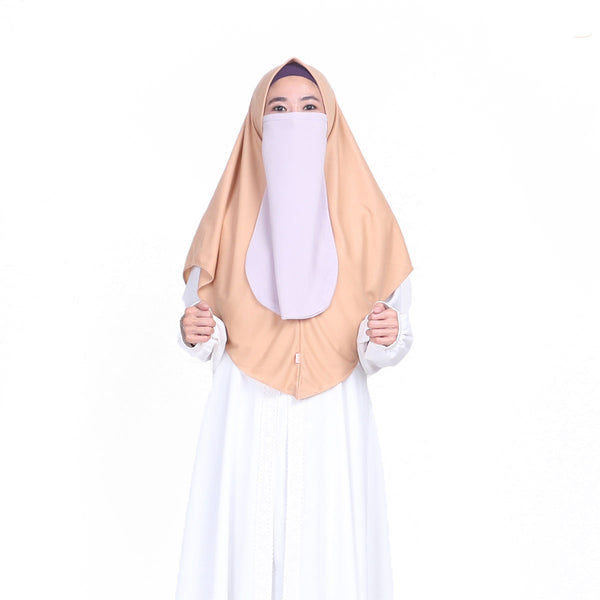 Khanza Sport Hijab Tortilla Brown