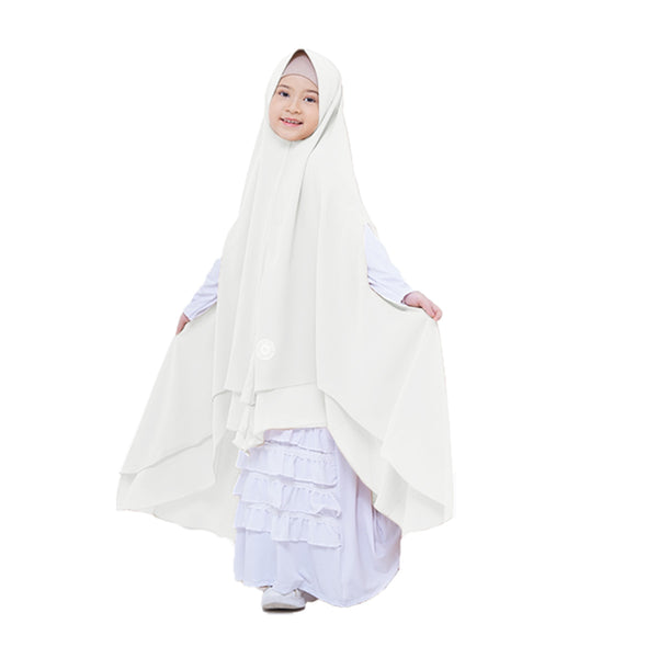 Farrah Khimar Kids Broken White