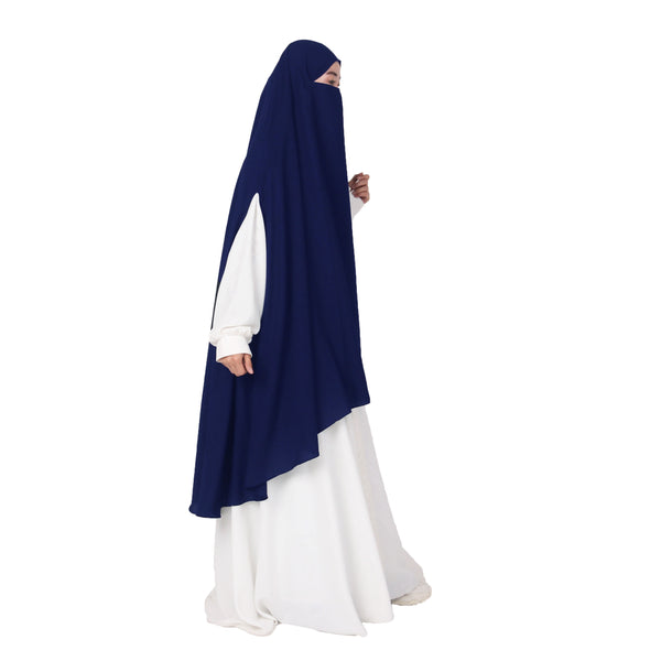 Afsheen French Khimar Navy