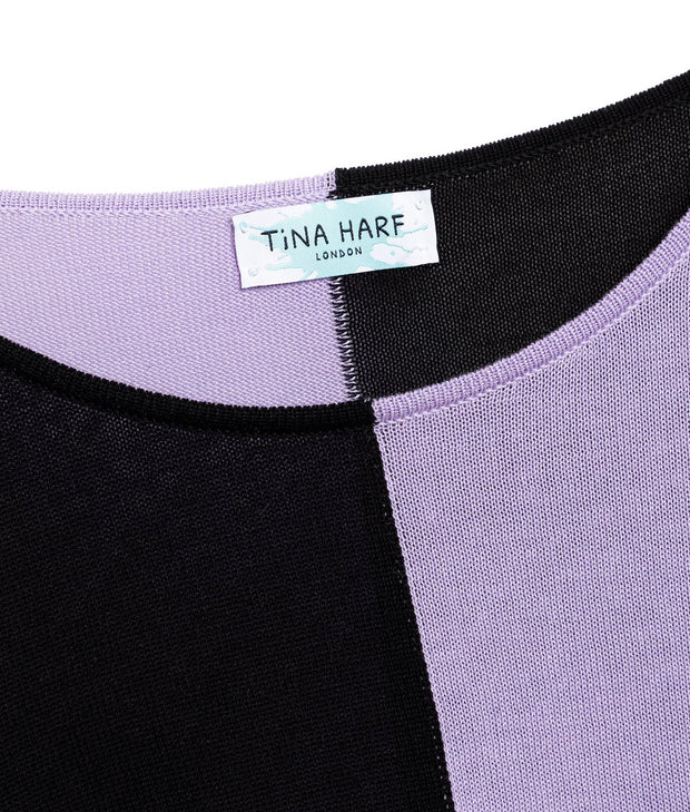 TINA HARF LONDON | Top Tara | Black & Purple - The Guestlist