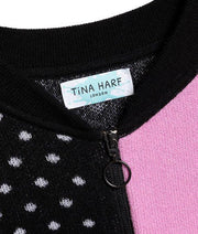 "TINA HARF LONDON | Cashmere Zip Jacket Pippa ""Polka Dots"" 