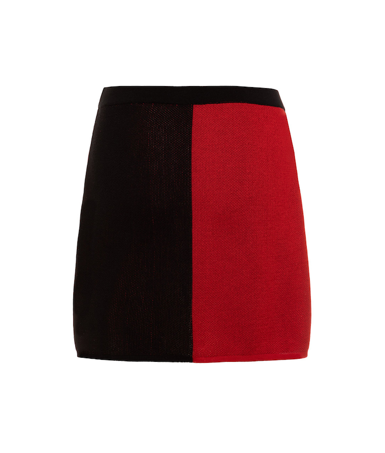 TINA HARF LONDON | Lisa Skirt | Mini | Black & Red