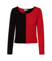 TINA HARF LONDON | Top Tara | Black & Red - The Guestlist