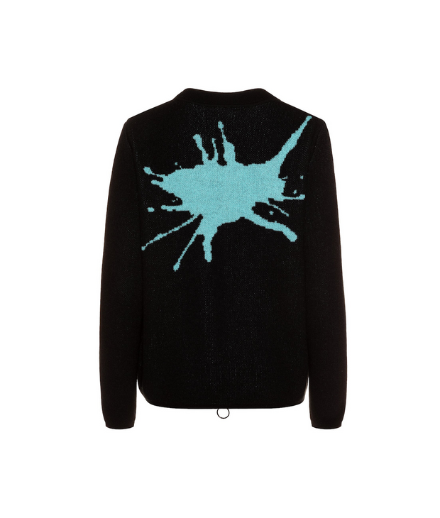 "TINA HARF LONDON | Cashmere Zip Jacket Pippa ""Splash"" 