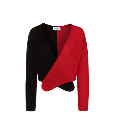 Norma Cashmere Wrap Cardigan | Red Cardigan THE GUESTLIST