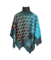 Turtleneck Poncho | Blue Cape THE GUESTLIST