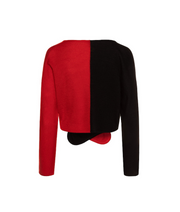 TINA HARF LONDON | Norma Wrap Cashmere Cardigan | Black & Red - The Guestlist