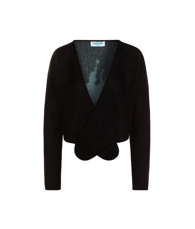 "TINA HARF LONDON | Norma Wrap Cashmere Cardigan ""Splash"" 