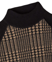 Cameron Baseball Sweater Mock Neck THE GUESTLIST