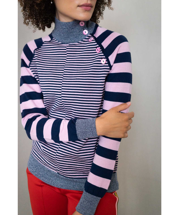Stripy Stripe Sweater | Pink Sweater THE GUESTLIST