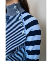 Stripy Stripe Sweater | Blue Sweater THE GUESTLIST