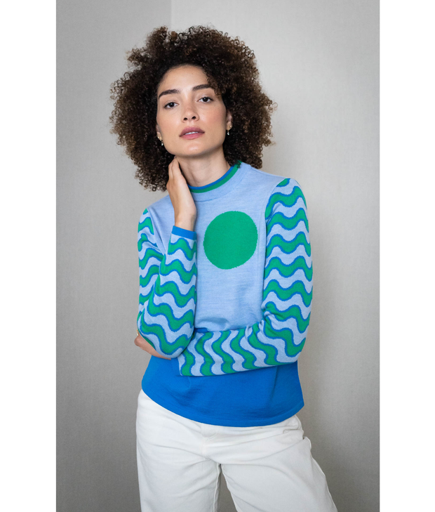 Sunny Wave Sweater | Blue Sweater THE GUESTLIST
