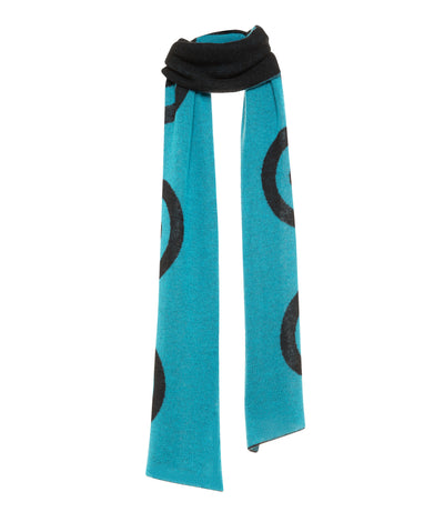 Blue Target Scarf | THE GUESTLIST Scarf THE GUESTLIST