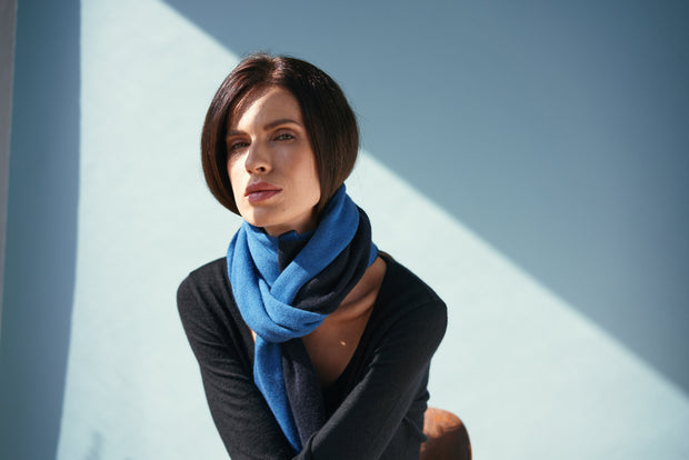JENNIFER JOANOU New York | Bowery Dark Navy Scarf - The Guestlist