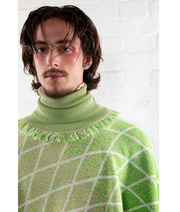 THE GUESTLIST by LINUS LEONARDSSON | Turtleneck Poncho | Green - The Guestlist