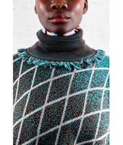 THE GUESTLIST by LINUS LEONARDSSON | Turtleneck Poncho | Blue - The Guestlist