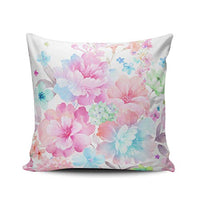 WULIHUA Throw Pillow Covers Purple and White Plum Watercolor Peonies Outdoor Boudoir Outdoor Cushion Cover Pillowcase Size 12x18 Inch One Sided Printed Chic Fashion Design