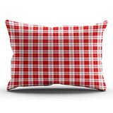 ONGING Decorative Pillowcases Red White and Green Plaid Customizable Cushion Rectangle Boudoir Size 12x18 inch Throw Pillow Cover Case Hidden Zipper One Side Design Printed