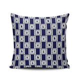 XIUBA Pillowcases Taupe Blue Tile Subtle Watercolor Design Customizable Cushion Decorative Rectangle 12x18 inch Boudoir Size Throw Pillow Cover Case Hidden Zipper One Side Design Printed
