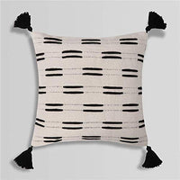 Tiffasea Lumbar Decorative Throw Pillow Covers Accent Pillow Cases Black and Cream Neutral Tufted Cushion Case Boho Farmhouse Decor for Couch Sofa Living Room Guest Room (12x20 inch, Tribal Cream)
