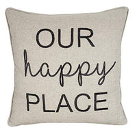"EurasiaDecor DecorHouzz Pillowcase Farmhouse Embroidered Home Throw Pillow Cover Funny Quote Cushion Cover for Housewarming Guest Porch Wedding Anniversary Couple (12""X20"", Blessed(Grey))"