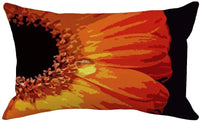 Fukeen Throw Pillow Covers Black Background with Sunflower Super Soft Pillow Cases 12x20 Inch Waist Lumbar Pillow Shams Blooming Flowers for Home Bedroom Sofa Couch Decor