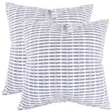 KAF Home Pleated Please Pillow Cover 20 x 20-inch 100-Percent Cotton (Gray/White) Set of 2
