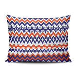 Fanaing Bedroom Custom Decor Ikat Aztec Tribal Mandarin and Light Orange Pillowcase Soft Zippered White Throw Pillow Cover Cushion Case Fashion Design One Sided Printed Boudoir 12X18 Inches