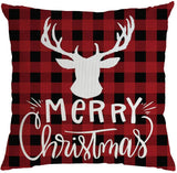 ZGstore Check Plaid Throw Pillow Cover 18 x 18 Cushion Case Christmas Decoration Living Room Couch Home Sofa Bedroom Bed