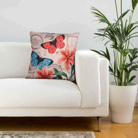 "Decozen Decorative Throw Pillow with Insert 22""x22"" inches in 1 Set Floral Print for Couch Sofa Bed Living Room Bedroom Farmhouse Patio"